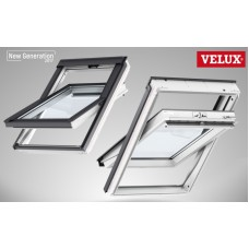 Мансардное окно Velux стандарт, GLU 0061, ручка сверху (дерево/полиуретан)