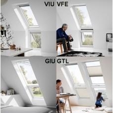Дополнительные нижние элементы и карнизные окна, тип GIL, GIU, VFE и VFU