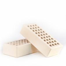 Кирпич керамический лицевой пустотелый одинарный КЛПО-125/35, (слоновая кость, объёмное окрашивание)