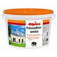 Фасадная краска- Alpina Fassadenweiss Base 1 (белая)