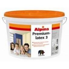 Матовая, особо устойчивая латексная краска для интерьеров Alpina Premiumlatex 3 Base 1 (белая)