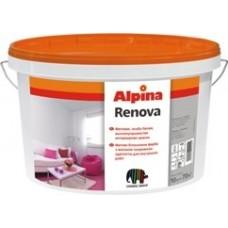 Матовая, особо белая, высокоукрывистая интерьерная краска Alpina Renova. Колеруется вручную колорантами Alpina Kolorant.