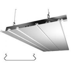 Алюминиевый реечный потолок с подвестной системой закрытого типа ППР-150/075