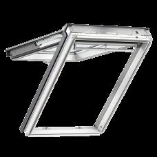 Мансардное окно Velux premium GPL2068, Дерево/белое покрытие, Панорама-комбинированная