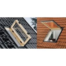 Мансардные окна для выхода на крышу для отапливаемых помещений